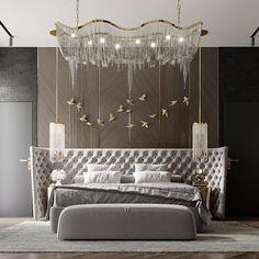 CONTEMPORARY BEDROOM on Behance Modern Luxury Bedroom, Luxury Bedroom Design, Luxury Interior Design, Contemporary Bedroom, Luxurious Bedrooms, Bedroom False Ceiling Design, Room Design Bedroom, Master Bedroom Interior, Home Room Design