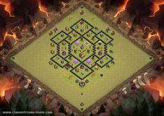 Clash of clans Townhall 8 War Base Clash of Clans Layout created by COC LOV3R5. Try it out in the attack simulator, see previous attacks or modify it with the base builder