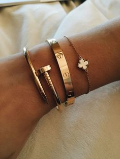 Cartier inspired bracelet - Cartier and Von Cleef and Arpels bracelets - B . - Cartier inspired bracelet – Cartier and Von Cleef and Arpels bracelets – Beate Covato – - Cute Jewelry, Jewelry Accessories, Women Jewelry, Fashion Jewelry, Jewelry Ideas, Jewelry Trends, Cartier Jewelry, Cartier Love Bracelet, Gold Jewellery