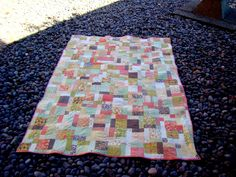 Happy Turtle: Disappearing Nine Patch Quilt Finish!