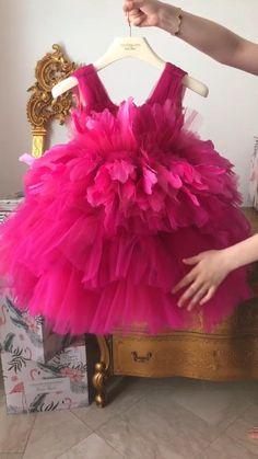 Baby Girl Dresses Diy, Baby Girl Frocks, Wedding Flower Girl Dresses, Frocks For Girls, Baby Dress, Girls Dresses, Baby Girls, Wedding Dress, 1st Birthday Dresses