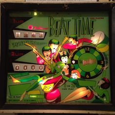 Vintage pinball machine inspired by Beatles mania - 1960s
