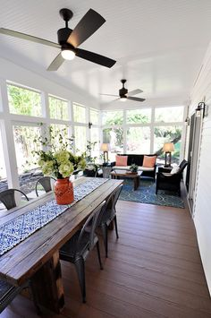 Screened Porch Get Away - contemporary - porch - dc metro - Arlington Home Interiors sunroom ideas Get Inspired: 10 Sunny Sun Rooms - How to Nest for Less™ Screened Porch Designs, Screened In Porch, Enclosed Porches, Porch Trim, Front Porches, Plywood Furniture, Small Furniture, Porch Furniture, Furniture Sets