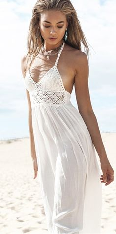 hippie soul wearing the white maxi #omgoutfitideas #stylish #trending