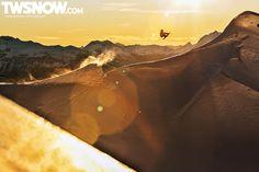 Jordan Mendenhall. PHOTO: Aaron Blatt | Wallpaper Wednesday: It's Powder Times | TransWorld SNOWboarding
