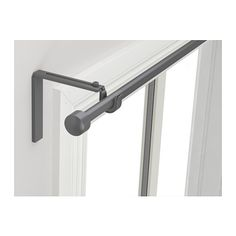IKEA - RÄCKA, Curtain rod combination, Curtain rod holder position can be adjusted, allowing curtains to be hung either close to the window or farther out.Can be mounted on the wall or ceiling.The length is adjustable.