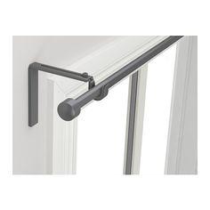 IKEA - RÄCKA, Combinaison tringle à rideaux, Si vous préférez accrocher les rideaux plus près ou plus loin de la fenêtre, il suffit de régler l'angle de la tringle.Peut être fixé au mur ou au plafond.Longueur réglable. IKEA