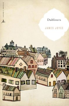 "Grady McFerrin illustrated book cover for James Joyce's ""Dubliners"" - love the color, the whimsy, the perspective, everything."