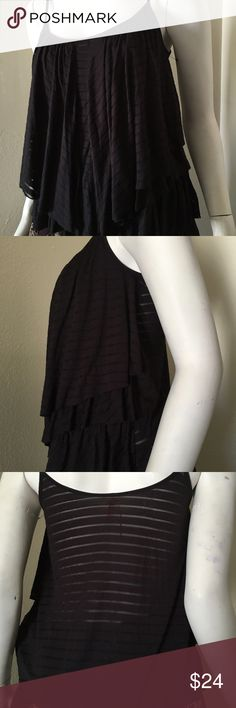 """Free People Layered Tank Top Chic tiered top. Pre-owned. Adjustable spaghetti straps. Made of rayon & polyester materials. Approx. measurements: Pit to pit 15""""; Length 23"""". Machine wash cold. In good condition. No flaws detected. Free People Tops Tank Tops"""