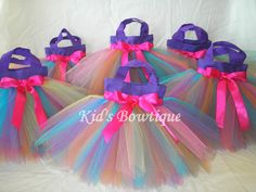 Set of 10 Rainbow Fairy Party Favor Tutu Bags  by kidsbowtique, $99.50