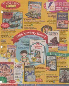 Scholastic Book Club flyer - 2000
