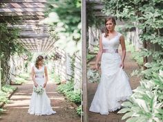 Gorgeous location for bridal portraits! | Camille's bridal portrait at Daniel Stowe Botanical Garden. Photo by All Bliss Photography.