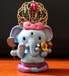 Ganesha Kitty by TheAllSeeingCat on Etsy, $150.00