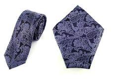 Mens 6cm Black and Purple paisley Skinny Tie with Pocket Square. Maroon Wedding Tie. Slim tie Pocket Square. Formal Ties. Pocket Square