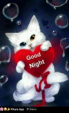 I love you my cat - Peinture diamant - Diamond painting Love You Gif, Love You Images, Hd Images, New Good Night Images, Good Night Wallpaper, Good Night Greetings, Night Pictures, Cute Animal Drawings, Cat Wallpaper
