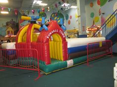 Visit Fun 4 All… 7 days a week even some holidays!  Fun 4 All is open 10am to 8pm everyday. They are located at:  200 Wilson St.  Port Jefferson Station, New York 11776  Phone: 631-331-9000 They have everything from a little kid play area seen above to a bigger kid area. They have 3 huge bouncers, 2 climbing areas and more...