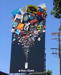Es momento de escuchar algo de música #PublicidadCreativa #BTL #Music #Marketing #3WV