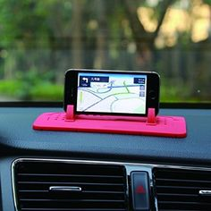 Car Mount Holder, Outtek New Silicone Pad Dash Mat Cell Phone Car Holder Cradle Dock for Samsung iPhone All Different Size Phone and GPS, Table PC Holder (Red) -- You can find out more details at the link of the image. Iphone 4s, Android Ou Iphone, Handy Gadgets, Car Gadgets, Car Mount Holder, Car Holder, Smartphone, Accessoires Pour Camping Car, Cute Car Accessories
