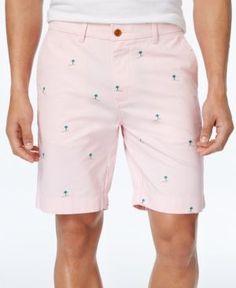 Tommy Hilfiger Men's Coastal Palm Cotton Shorts - Pink 34W