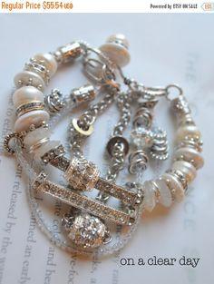 ON SALE chunky bracelet artisan bracelet rainbow by soulfuledges