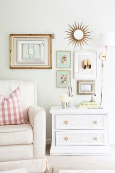 Blogger Mallory Fitzsimmons of Style Your Senses shares her  little girl nursery with vintage finds, floral accents, and a few sentimental pieces.