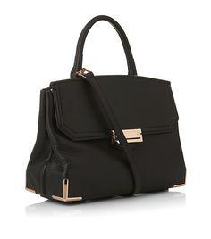 ab6898788f51 ALEXANDER WANG Black Marion Rose Gold Top Handle Bag