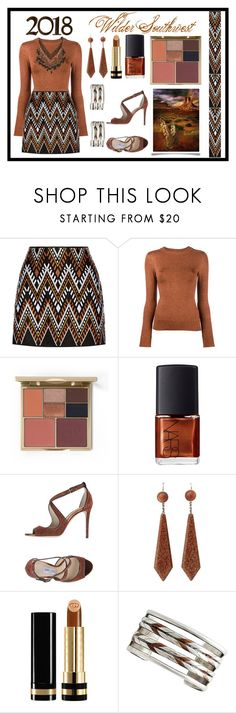 """Wilder Southwest:  Copper Mountain Club"" by wildersouthwest ❤ liked on Polyvore featuring DKNY, JoosTricot, Stila, NARS Cosmetics, Jimmy Choo, Gucci, William Spratling and NAKAMOL"