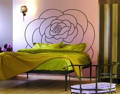 Rosa by Caporali. The bed itself is a handmade work of art. Get your artistic bed at tuscanhills.com