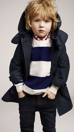 Find Burberry boys' outerwear at ShopStyle. Shop the latest collection of Burberry boys' outerwear from the most popular stores - all in one place. Fashion Kids, Toddler Boy Fashion, Little Boy Fashion, Toddler Boys, Kids Boys, Kids Style Boys, Trendy Fashion, Winter Fashion, Outfits Niños