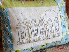 Little Houses Hand Embroidery PDF Pattern Instant Digital Download