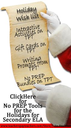 Middle and High School Christmas Activities - NO PREP | Freebies and More!