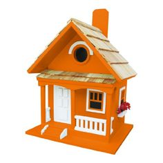 Birdhouses  Tangerine Cottage Birdhouse Backyard * This is an Amazon Associate's Pin. Click the VISIT button for detailed description on the website.