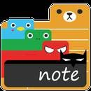 Download Cute Note:  This is my all-time favourite app, as a rather messy and short term memory person who loves and relies on colourful post-it's. The themes are just cute enough to keep on my main screen to remember things and the fact that you can set the transparence makes it really fancy. Would love a bit...  #Apps #androidgame ##WAZPLAY  ##Productivity