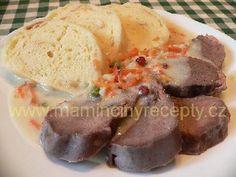Vepřové srdce a jazyk na smetaně No Salt Recipes, Beef, Meat, Steak