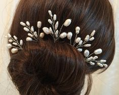 Wedding hair pins Wedding headpiece Wedding hair by FlowerRainbow
