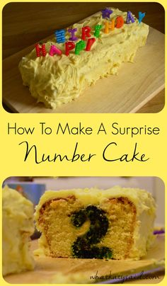 How To Make A Surprise Number Cake - easy how to for a stick of rock type cake to give your guests a surprise when the cake is cut open! Perfect for birthdays!