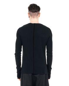LOST&FOUND MAN Black slim fit sweater round neckline long sleeves 98% CO 2% WO