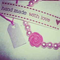 One of our #candy#pink #bracelets made with glass #pearl #beads ♥ #jewellery #roses #cinnaloucreations £4 including free UK delivery ♥ www.facebook.com/CinnalouCreations