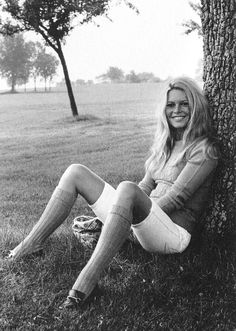 1965 Knee socks never looked so chic. Brigitte Bardot wore her loafers in a way that would be unexpectedly stylish today.