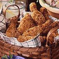 Crispy Chicken with 3 Dipping Sauces - GoodHousekeeping.com
