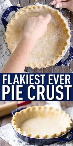 Best Pie Crust Recipe, Pie Crust Recipes, Pastry Recipes, Baking Recipes, Dessert Recipes, Desserts, Quiche Crust Recipe, Single Pie Crust Recipe Crisco, Self Rising Flour Pie Crust Recipe