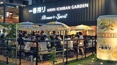 The Kirin Ichiban Beer Garden - frozen nama biru @ Tokyo, Shibuya, Garden Bar, Beer Garden, Cozy Mysteries, Kuala Lumpur, Brewing, Places To Go, Tokyo, Frozen, Japan
