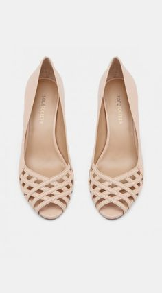 Lattice peep toe heels.