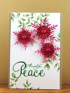 Christmas Snowflake card by Jill Foster.