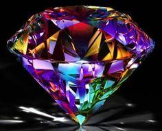 Diamante refletindo cores …