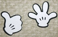 Mickey Mouse Hands Clip Art | Mickey's Hands