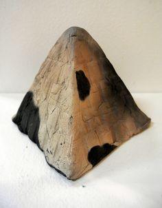 """Old World Decay Series: Pyramids and Mayan Ruins"" Clay 4 1/2""x 4 1/2""x5"" Holly Benton http://www.artmeccaofcharleston.com/"