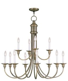 Livex Lighting 5149 Cranford 12 Light 2 Tier Chandelier