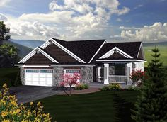 House Plan 73293 | Craftsman   Traditional    Plan with 1867 Sq. Ft., 3 Bedrooms, 2 Bathrooms, 3 Car Garage