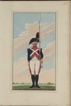 Batavia(Dutch); 1st Infantry Demi-Brigade, c.1802 Osprey Publishing, Army Uniform, French Revolution, Napoleonic Wars, Dutch, Badge, Anime, Art, Holland